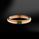 ROUGH GREEN TOURMALINE SANDED Ring