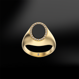 TOURMALINE - DIAMOND Gold Ring
