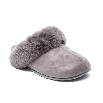 Revs® Slip-On Mule Massage Slippers for Women, in Mink Grey or Chestnut Tan