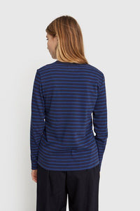 Moa long sleeve navy/blue stripes