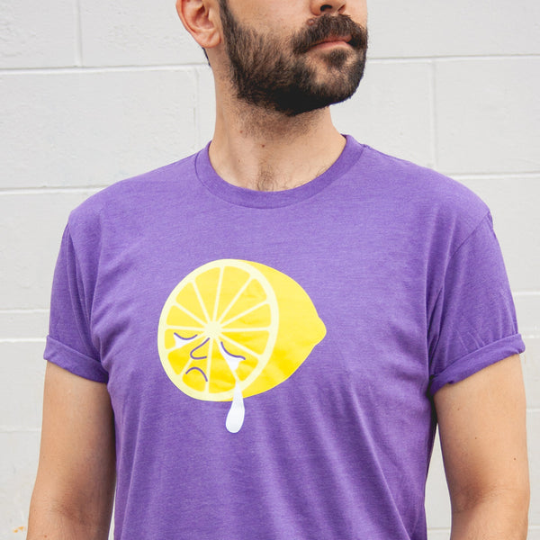 T-shirt - The Bright Side - Sad Lemon Print