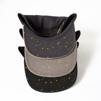 Five-panel Runner's Cap with Star-print Brim