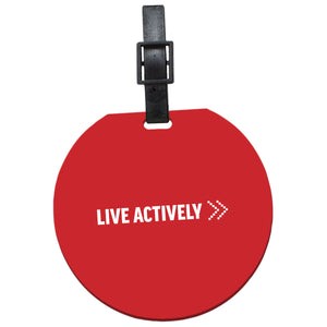 Live Actively ID Slip-In Luggage Tag