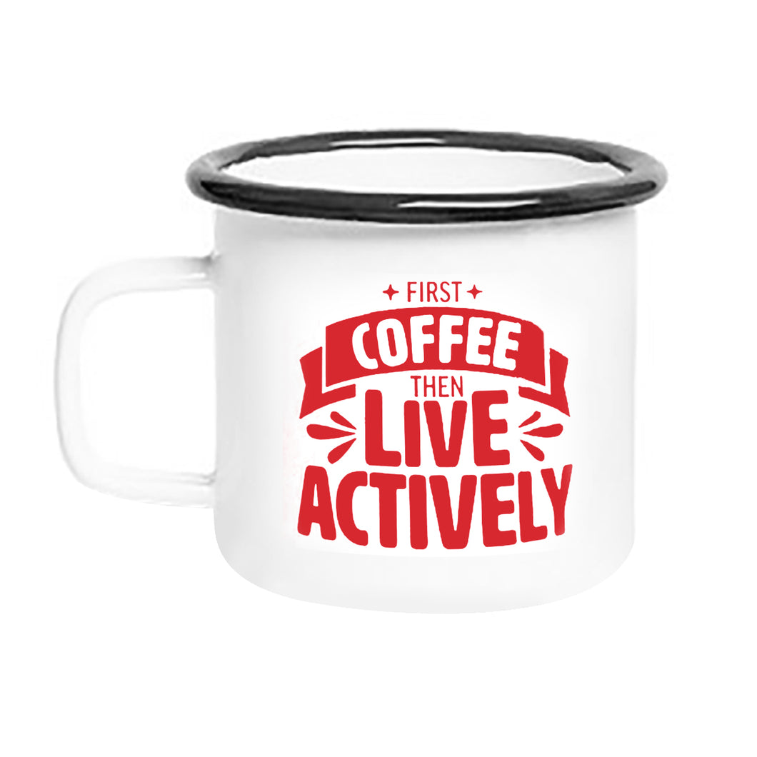 Live Actively Camping Mug (Set of 2)