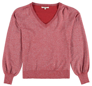 GARCIA RED GLITTER SWEATER