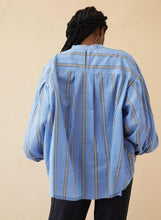 Load image into Gallery viewer, ARTIST SHIRT | BLUE SKY STRIPE - SEEK COLLECTIVE