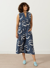 Load image into Gallery viewer, SIMONE ROMPER | NAVY WAVES PRINT - SEEK COLLECTIVE