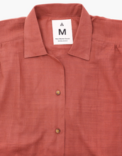 Load image into Gallery viewer, BURGUNDY NATURAL FRONT TIE SHIRT - NEW MARKET GOODS