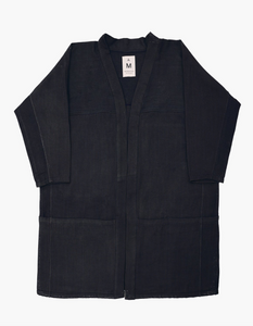 BLACK TWILL POCKET HANTEN - NEW MARKET GOODS