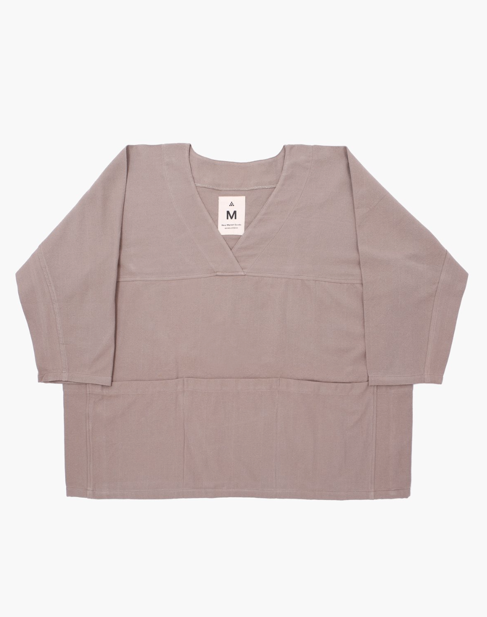 GRAY CANVAS POCKET SMOCK - NEW MARKET GOODS