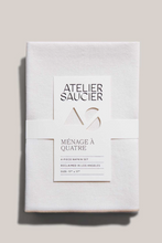 Load image into Gallery viewer, CREAM BURLAP NAPKINS | SET OF FOUR - ATELIER SAUCIER