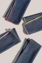 Load image into Gallery viewer, RAINBOW DENIM NAPKINS | SET OF FOUR - ATELIER SAUCIER