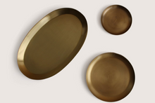 Load image into Gallery viewer, BRASS OVAL TRAY - HUMBLE & GRAND