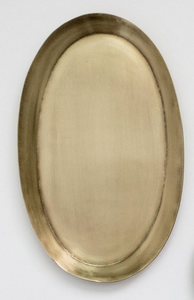 BRASS OVAL TRAY - HUMBLE & GRAND