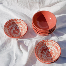 Load image into Gallery viewer, SMALL BOWL WITH HAND PAINTED DESIGN | CORAL - POMELO