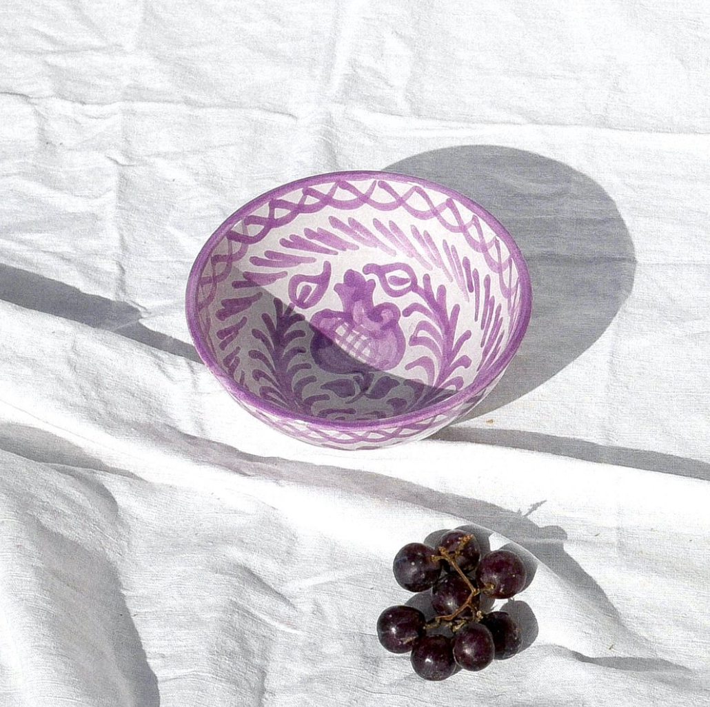 SMALL BOWL WITH HAND PAINTED DESIGN | LILAC - POMELO