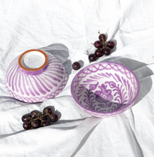 Load image into Gallery viewer, SMALL BOWL WITH HAND PAINTED DESIGN | LILAC - POMELO