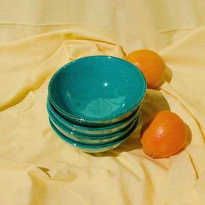 SMALL BOWL WITH GREEN GLAZE - POMELO