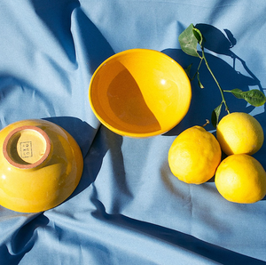 SMALL BOWL WITH YELLOW GLAZE - POMELO