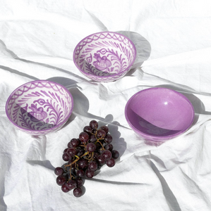 SMALL BOWL WITH LILAC GLAZE - POMELO
