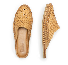 Load image into Gallery viewer, WOVEN SLIDE / NATURAL LEATHER | WOMEN'S - MOHINDERS