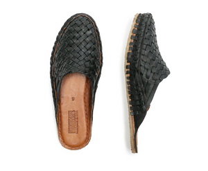 WOVEN SLIDE / IRON-DYED LEATHER | WOMEN'S - MOHINDERS