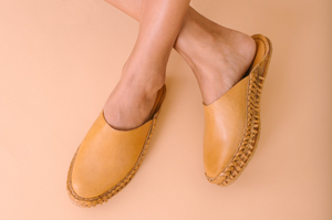 SOLID SLIDE / NATURAL LEATHER | WOMEN'S - MOHINDERS