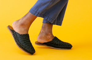 WOVEN CITY SLIPPER / IRON-DYED LEATHER | MEN'S - MOHINDERS