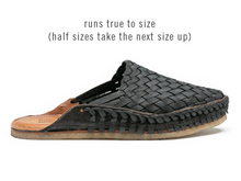 Load image into Gallery viewer, WOVEN CITY SLIPPER / IRON-DYED LEATHER | MEN'S - MOHINDERS