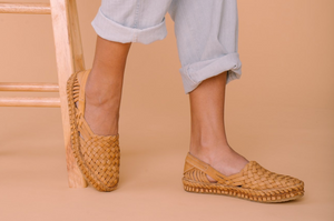 WOVEN FLAT / NATURAL LEATHER | WOMEN'S - MOHINDERS