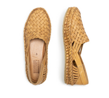 Load image into Gallery viewer, WOVEN FLAT / NATURAL LEATHER | WOMEN'S - MOHINDERS