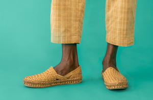 WOVEN SHOE / NATURAL LEATHER | MEN'S - MOHINDERS