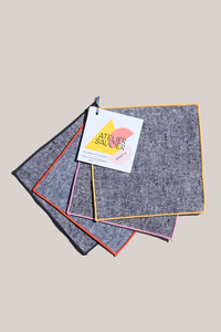 RAINBOW CHAMBRAY APÉRITIF COCKTAIL NAPKINS - ATELIER SAUCIER