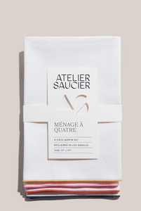 RAINBOW TWILL NAPKINS | SET OF FOUR - ATELIER SAUCIER