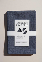 Load image into Gallery viewer, JAPANESE CHAMBRAY NAPKINS - ATELIER SAUCIER