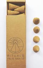 Load image into Gallery viewer, PALO SANTO CONES | 12 PACK - RITUALS INCENSE
