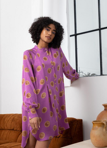 SONIA DRESS | ORCHID POLKA DOT - SEEK COLLECTIVE