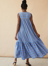 Load image into Gallery viewer, STEVIE DRESS | BLUE SKY STRIPE - SEEK COLLECTIVE