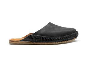 SOLID SLIDE | IRON DYED LEATHER - WOMENS- MOHINDERS