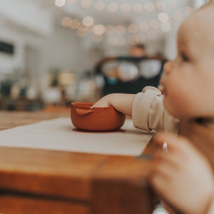 BABY BOWL | SUCTION BOWL | GINGER - THE DEAREST GREY