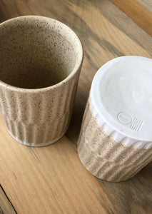 FRECKLED & CARVED TUMBLER - DeNai