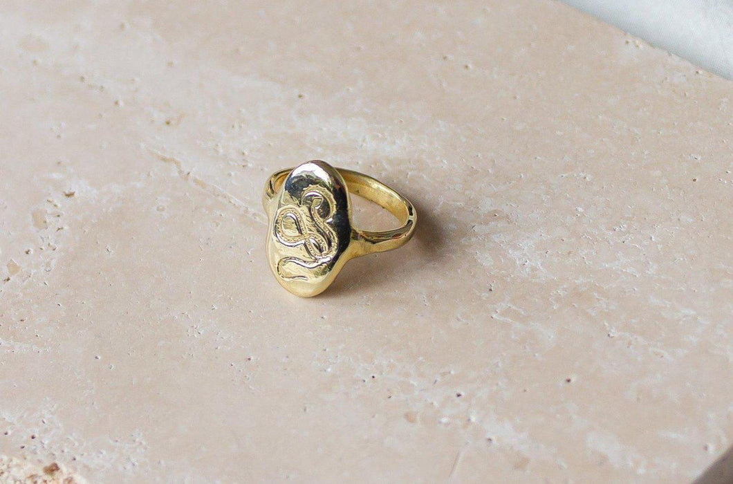 SERPENT RISING RING | BRASS - DEA DIA