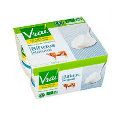 Yogurt Natural Bifidus 4X125gr VRAI