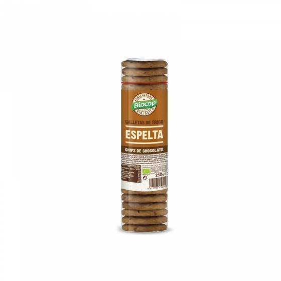 Galletas de espelta con chips de chocolate 250g ecológicas