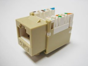 R.J. Enterprises 3013A-8-C6A/6-IV Category 6/6A Jack Ivory