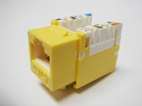 R.J. Enterprises 3013A-8-C6A/6-YE Category 6/6A Jack Yellow