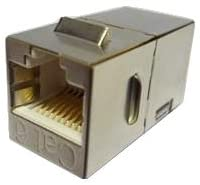 R.J. Enterprises - Cat6A Fully Shielded RJ45 Coupler RJ-210-C6A-S