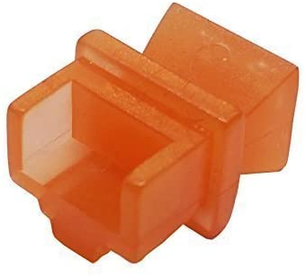 R.J. Enterprises - RJ45 Jack Dust Cover, Cap, Protector, Orange (100 pieces)