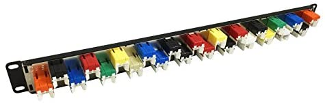R.J. Enterprises SDPP-24-C6J Cat6 Patch Panel (Special Design, 568A/B, 24 Port)