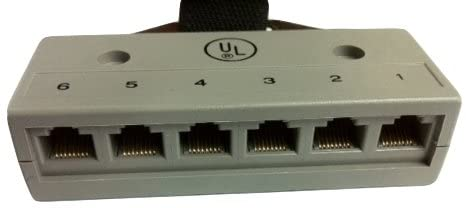 R.J. Enterprises - Harmonica Connector (Male), 6 RJ45 Ports RJ-800T-6(M)